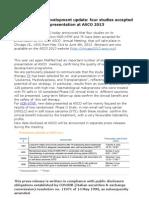 MolMed NGR-hTNF four studies accepted for presentation at ASCO 2013