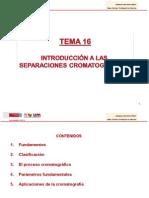TEMA 16. Introducción a las separaciones cromatográficas