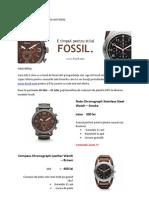 Model Scrisoare Comerciala Fossil - marketing Direct