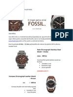 Model Scrisoare Comerciala Fossil - marketing Direct