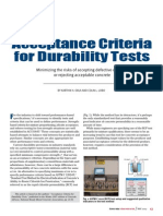 Acceptance Criteria for Durability Test