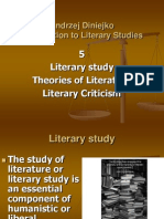PP 5 Literary Study, Theories of Literature, Literary Criticism