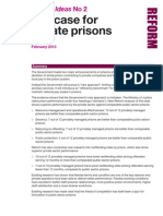 Tanner Reform Ideas - the Case for Private Prisons