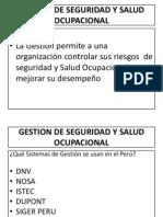 Clase 1. Gestion de Seguridad y Salud Ocupacional