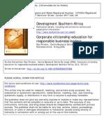 Prinsloo Et Al 2006 - Corporate Citizenship Education for Responsible Business Leaders