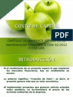 El Costo de Capital Capítulo 9