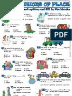 4. Ficha de Trabalho - Prepositions of Place (2)