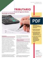 Boletin 001-13 - Declaración Jurada Anual de Ingresos Brutos –  Municipio de Panamá