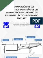 tf025 determinación de los parámetros de diseño de un clarificador secundario
