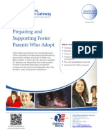 Preparing and Supporting Foster Parents Who Adopt