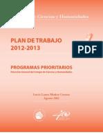Plan Trabajo 2012