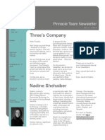 Pinnacle Team April 2009 Newsletter