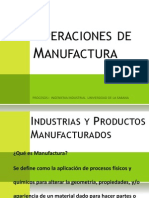 1.Operaciones de Manufactura