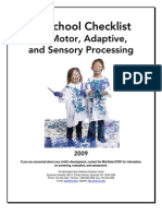 PS CHECKLIST for Motor, Adaptive & Sensory