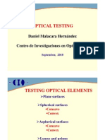 Daniel Malacara Optical Testing