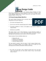 Sump Design Guidance