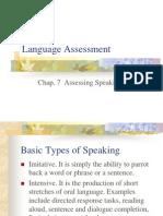 Language Assessment (Chap. 7)