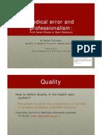 Medical Error and Professionalism