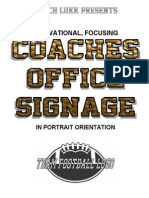 Coach Lukk's Locker Room Signage - Coaches Office
