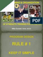 Mike Durand-wiaa Organization of Strength Training Programs