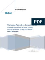 The Reston Recreation Center Proposal--Final