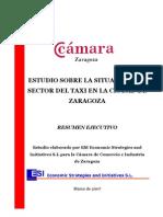 ZARAGOZA_ESTUDI Camara Zaragoza TAXI (Resum Executiu)