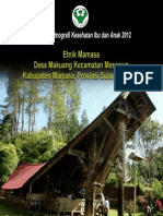 Buku Seri Etnografi Kesehatan Ibu dan Anak 2012; Etnik Mamasa, Desa Makuang, Kecamatan Messawa, Kabupaten Mamasa,Provinsi Sulawesi Barat