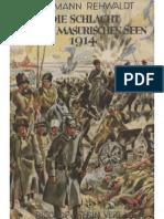 Rehwaldt, Hermann - Die Schlacht an Den Masurischen Seen 1914 (Um 1942, 89 S., Scan-Text, Fraktur)