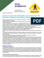 Informe sobre educación vial para escuelas