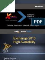 Exchange 2010HA CTD