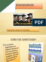 Ley 30 de Educacion en Colombia