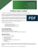 Northern Senior Academy Selection Criteria