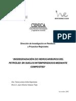041- Biodegradacion de Hidrocarburos Del Petrole en Suelos Intemperizados Mediante Composteo