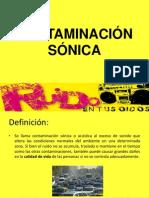 Contaminacion sonica`