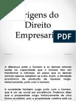 Origens Do Direito Empresarial