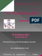 El Profesor Jefe