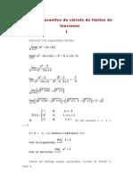 Ejercicios Resueltos de Calculo de Limites de Funciones