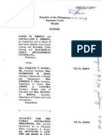 Intervention of De Venecia et al. re
