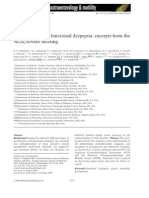 Gastsroparesis and Functional Dyspepsia