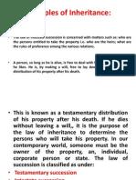 Succession and Inheritance