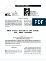 MoM antenna simulations, with Matlab RWG basis functions.pdf