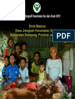 Buku Seri Etnografi Kesehatan Ibu dan Anak 2012; Etnik Madura, Desa Jrangoan, Kecamatan Omben, Kabupaten Sampang, Provinsi Jawa Timur
