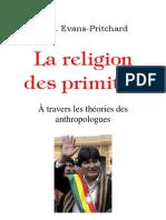 Evans-Pritchard, La Religion Des Primitifs