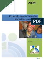 Donaciones en El Peru 2009