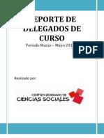 Reporte Delegados de Curso Marzo-Mayo 2013-1