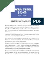 History of Tata Steel
