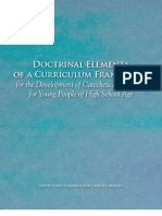 High School Religious Education Curriculum Framework from USCCB