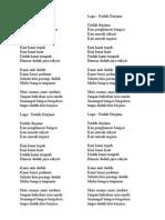 Lirik Lagu Dadah Durjana
