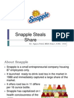 Snapple Steals Share Case Study