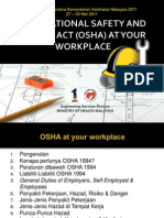 (7) Occupational Safety & Health Act (Osha) at Your Workplace (Bpkj)